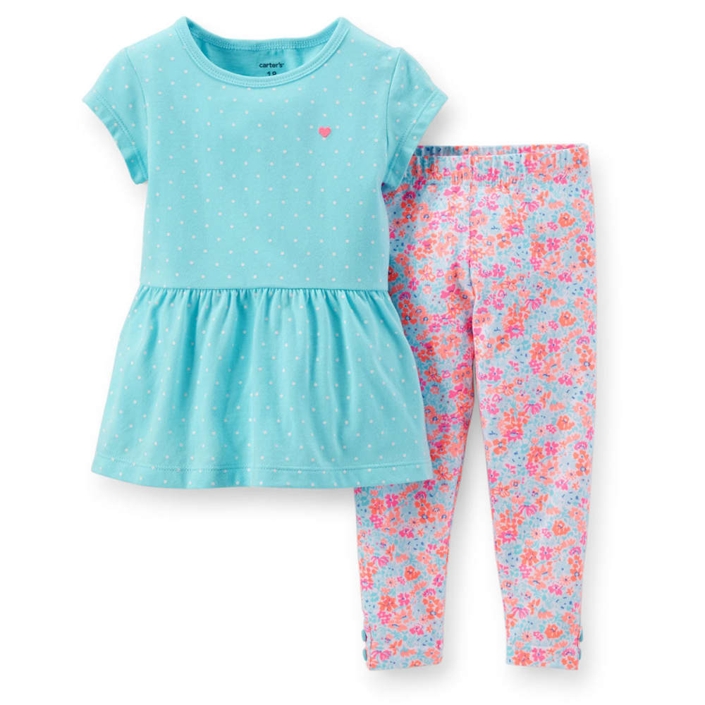 CARTER'S Infant Girls' Two-Piece Tunic and Leggings Set - PRINT