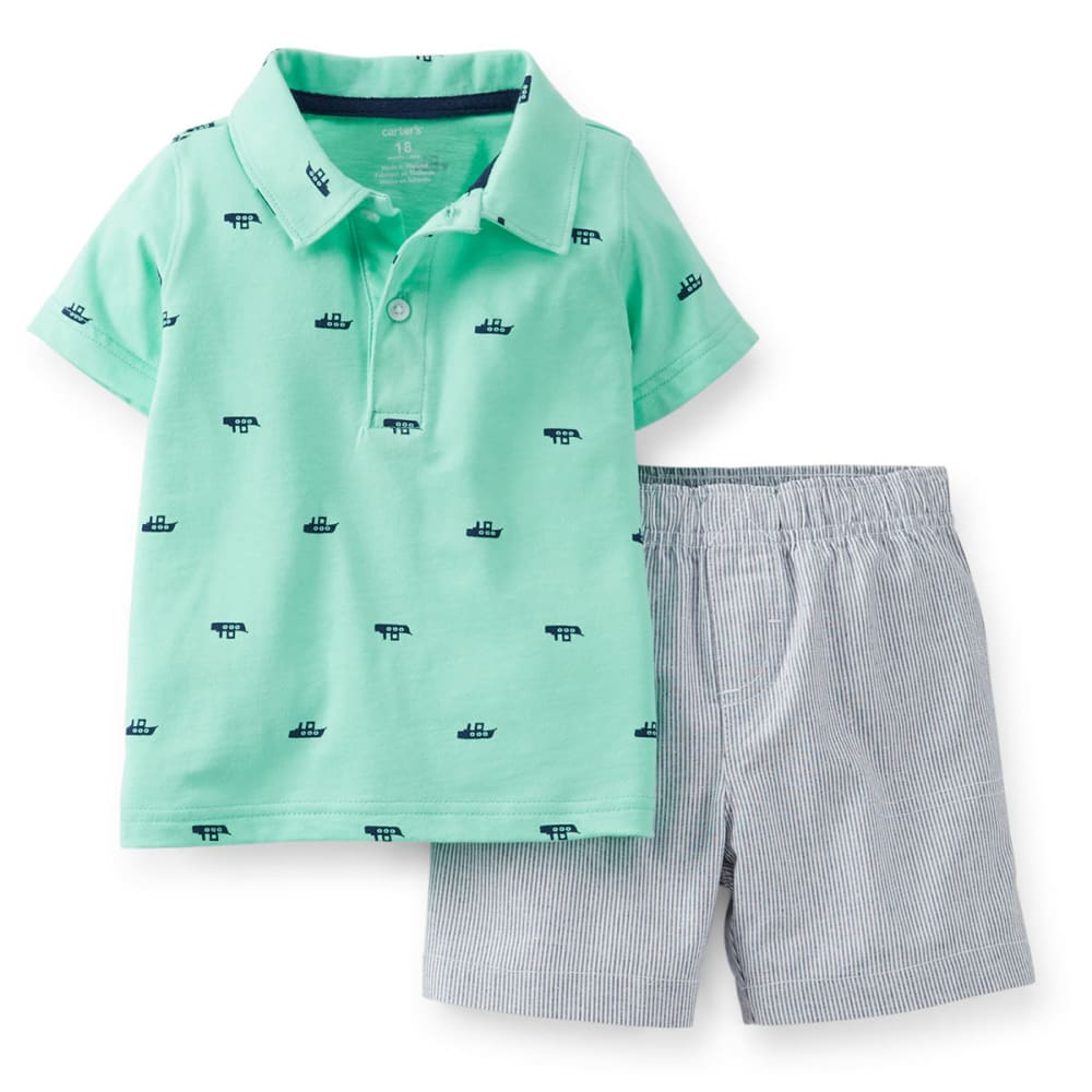 CARTERS Infant Boys' Submarine Polo 2-Piece Top and Shorts Set - PRINT