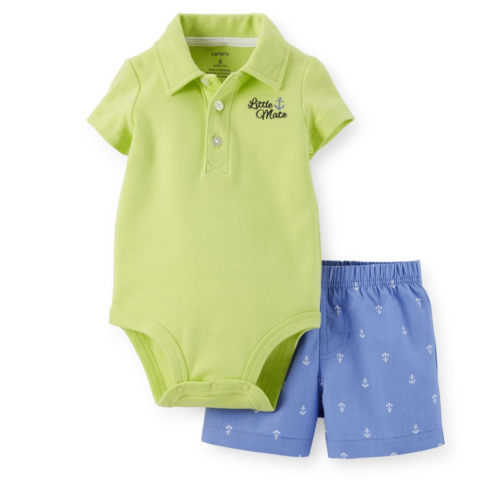 CARTERS Infant Boys' Little Mate Two-Piece Bodysuit and Shorts Set - YELLOW/BLUE