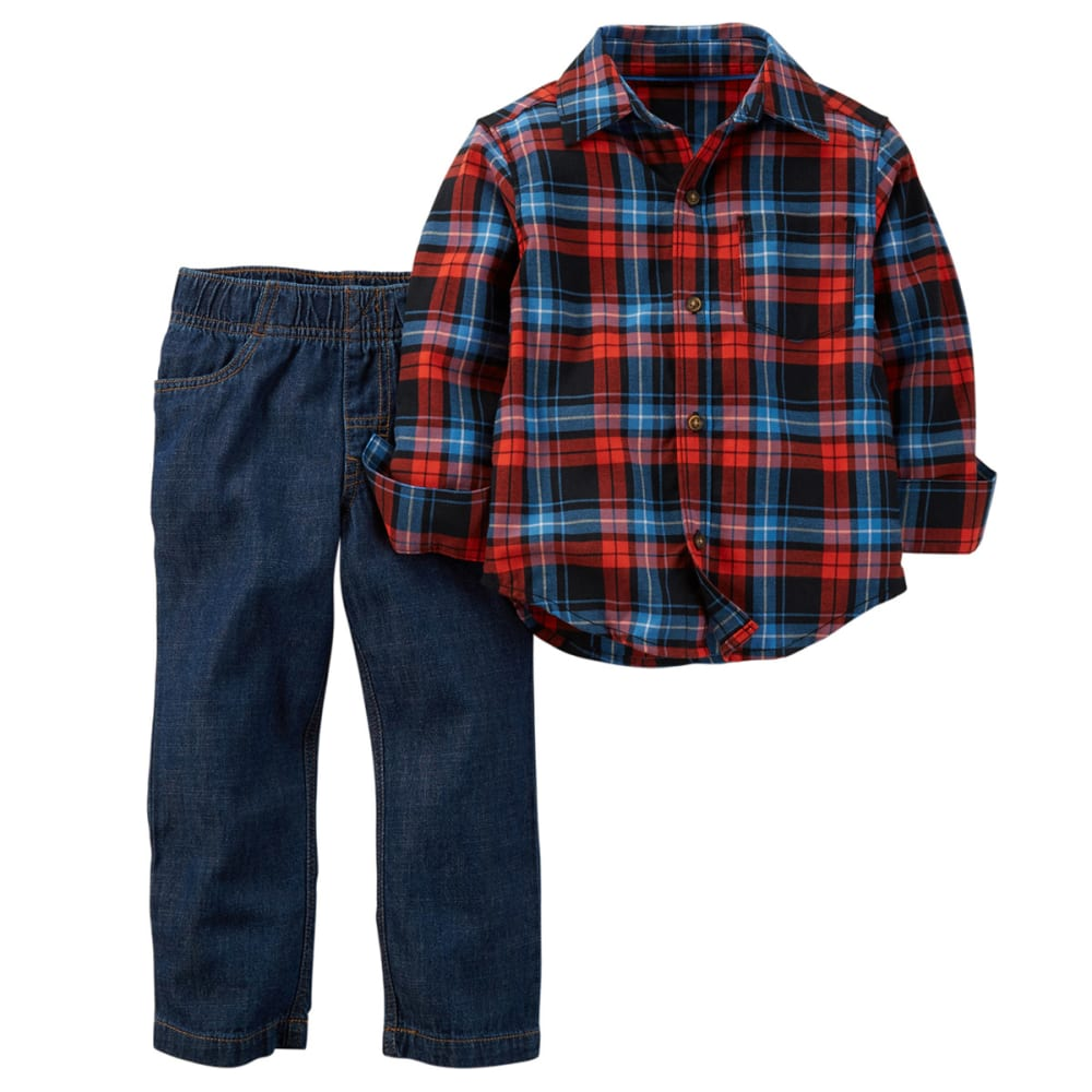 CARTER'S Baby Boys' Plaid Shirt & Jeans Set, 2-Piece - PLAID