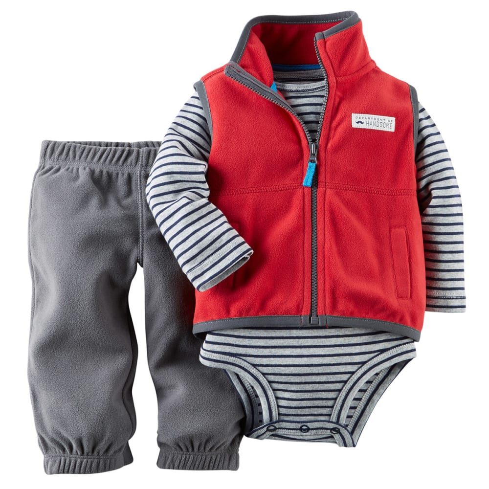 CARTERS Baby Boys' 3-Piece Vest Set - RED