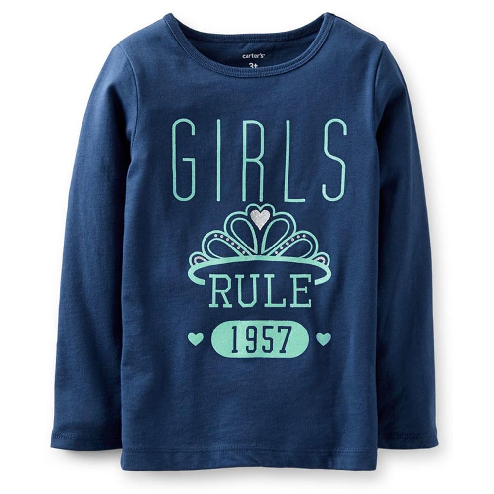 CARTER'S Toddler Girls' Girls Rule Tee, Navy - NAVY