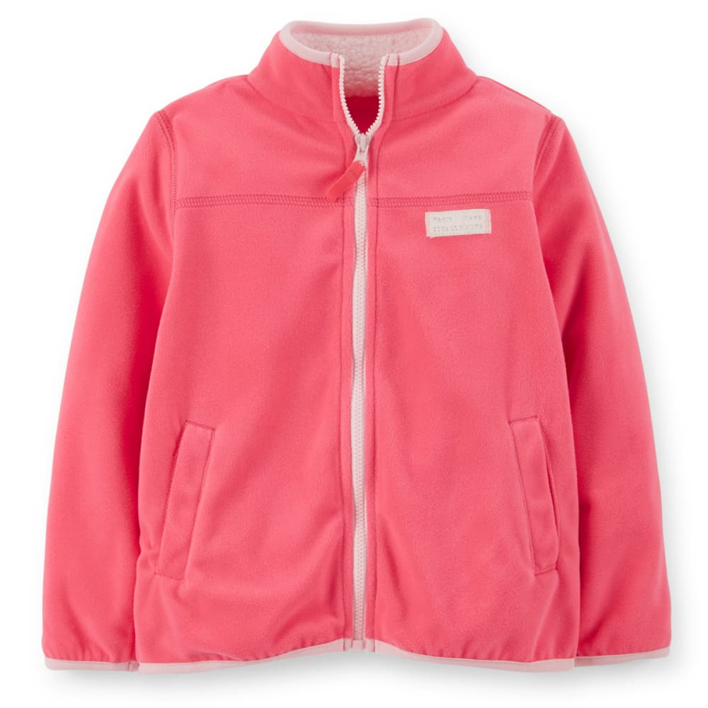 CARTER'S Toddler Girls' Fleece Jacket - CORAL