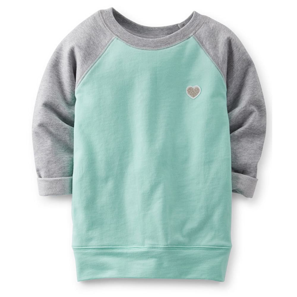 CARTER'S Toddler Girls' French Terry Tunic, Mint - MINT