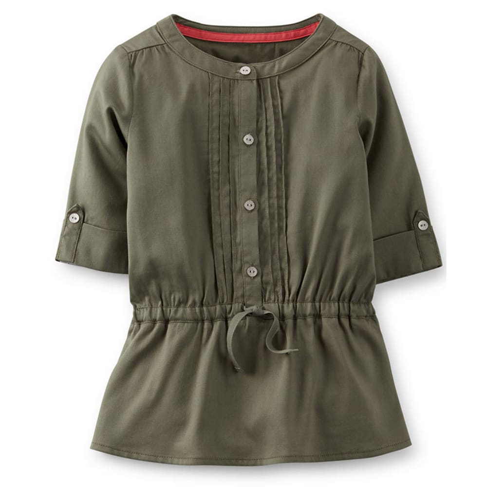CARTER'S Toddler Girls' Olive Woven Tunic  - OLIVE
