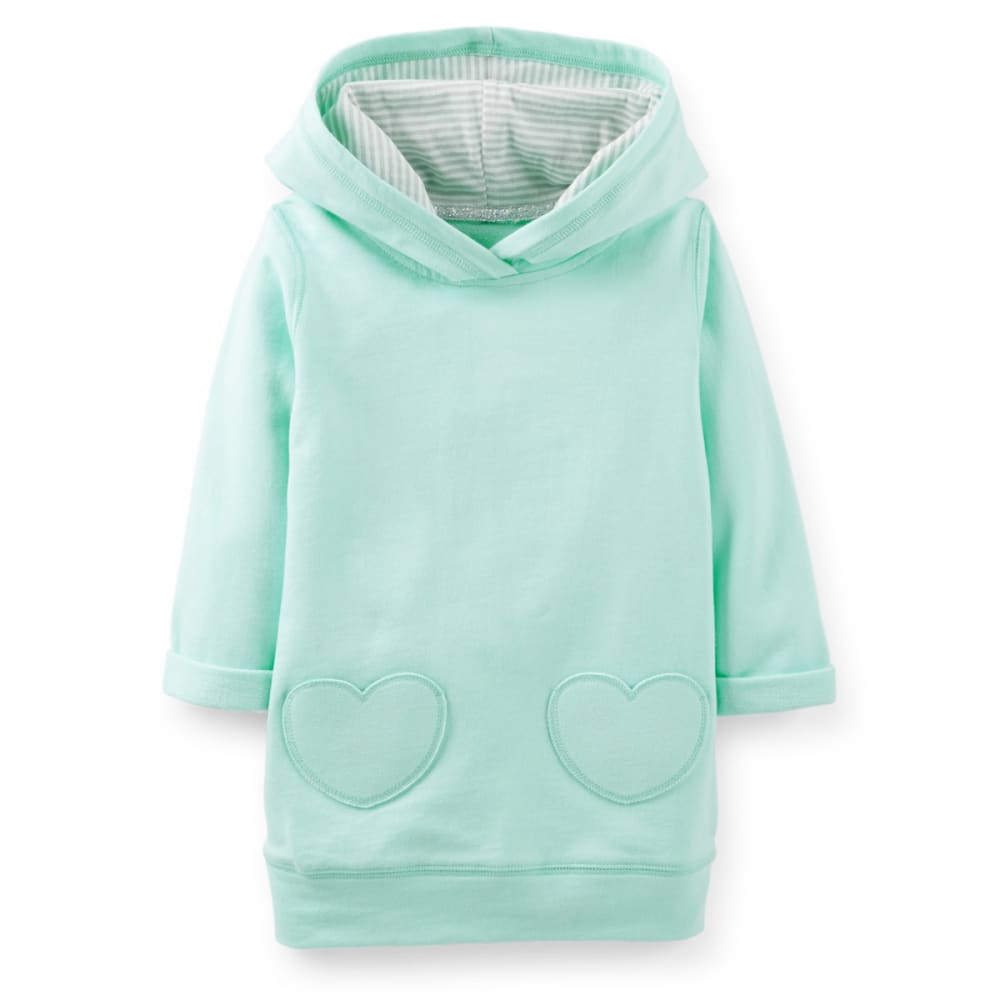 CARTER'S Toddler Girls' French Terry Hooded Tunic - MINT