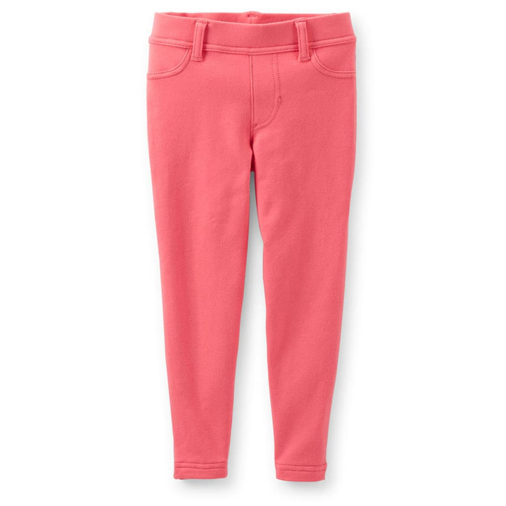 CARTER'S Toddler Girls' Knit Jeggings, Coral - CORAL