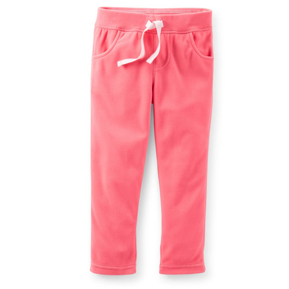 CARTER'S Toddler Girls' Microfleece Pull-On Pants - CORAL