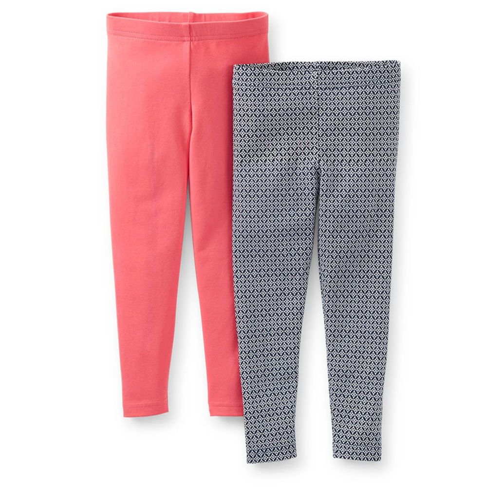 CARTER'S Toddler Girls' 2-Pack Stretch Leggings, Pink/Navy  - MISCELLANEOUS