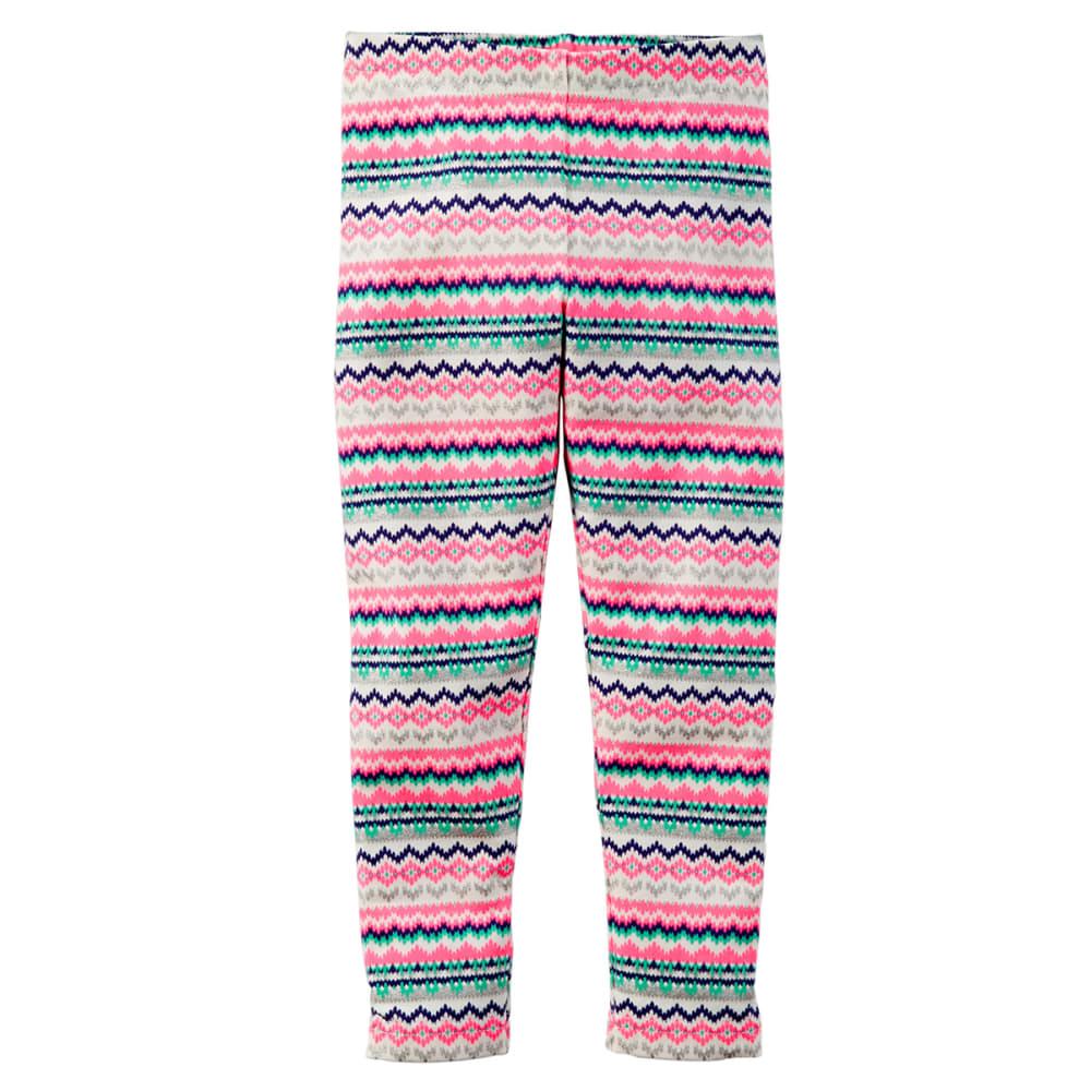 CARTERS Toddler Girls' Fair Isle Print Leggings - TEAL