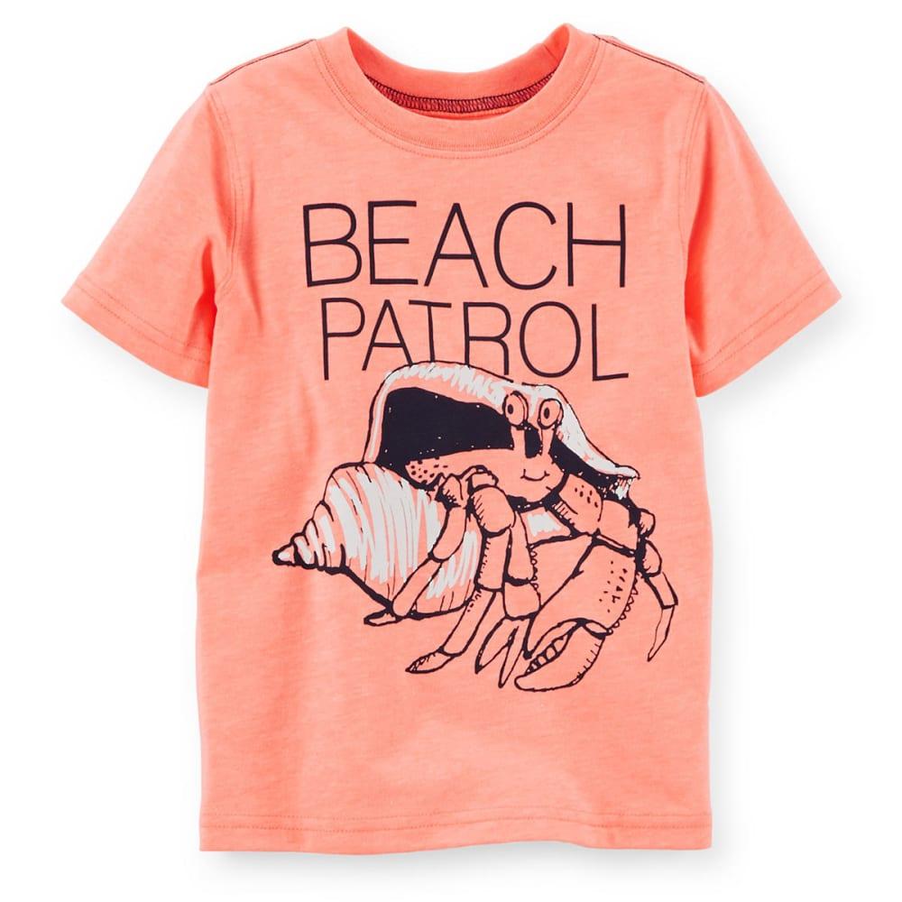 CARTER'S Toddler Boys' Beach Patrol Tee - ORANGE