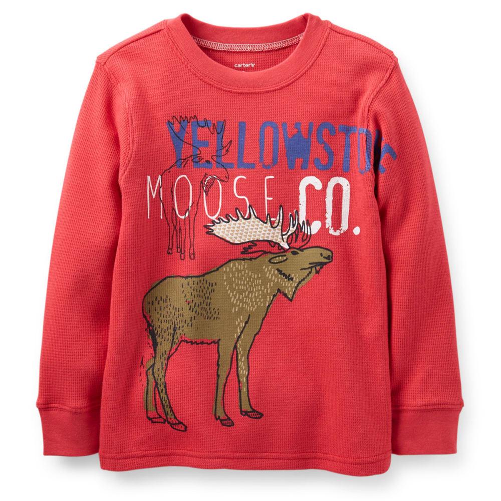CARTER'S Toddler Boys' Thermal Moose Tee - RED