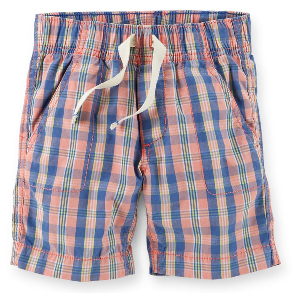 CARTER'S Toddler Boys' Pull-On Plaid Poplin Shorts - PLAID