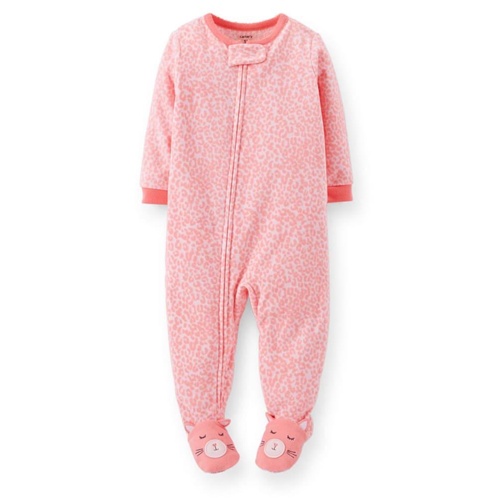 CARTER'S Toddler Girls' 1-Piece Microfleece PJs - PRINT