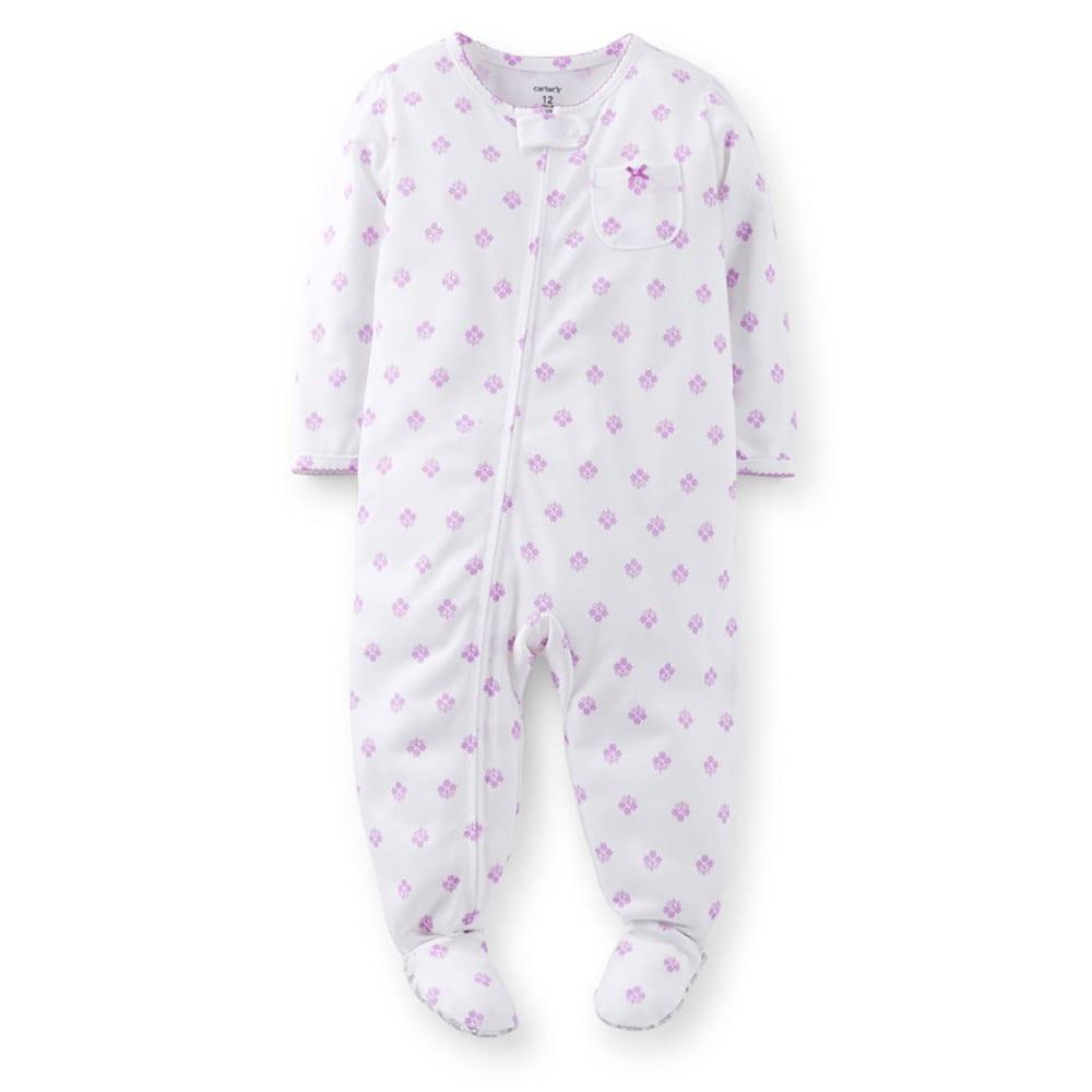 CARTER'S Toddler Girls' Ditsy Print Sleepwear, Purple- VALUE DEAL - PRINT