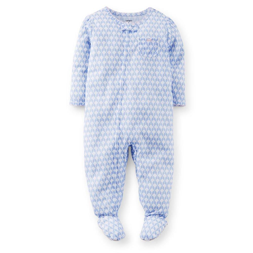 CARTER'S Toddler Girls' Ditsy Print Sleepwear, Blue- VALUE DEAL - PRINT