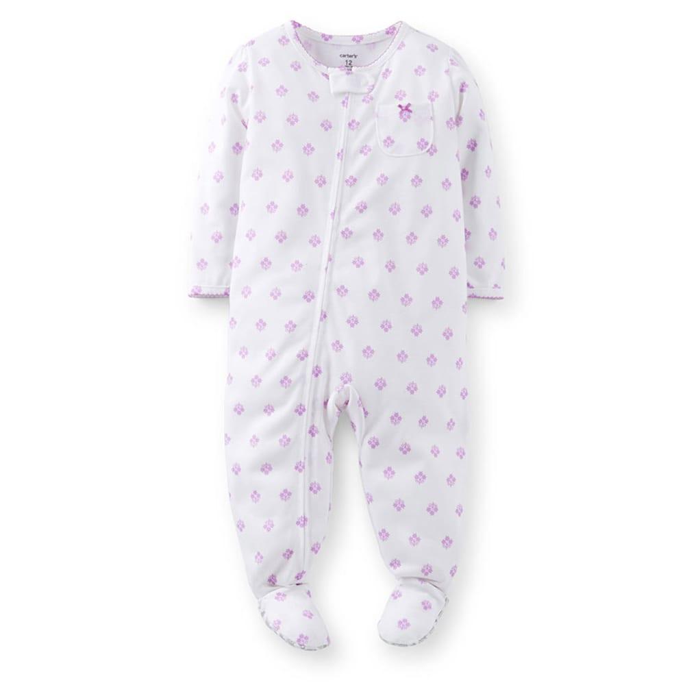 CARTER'S Infant Girls' Sleepwear, Blue Ditsy Print - PRINT