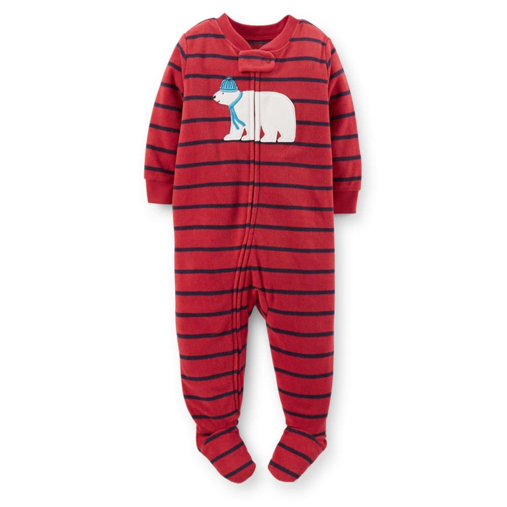 CARTER'S Infant Boys' 1-Piece Microfleece PJs - RED
