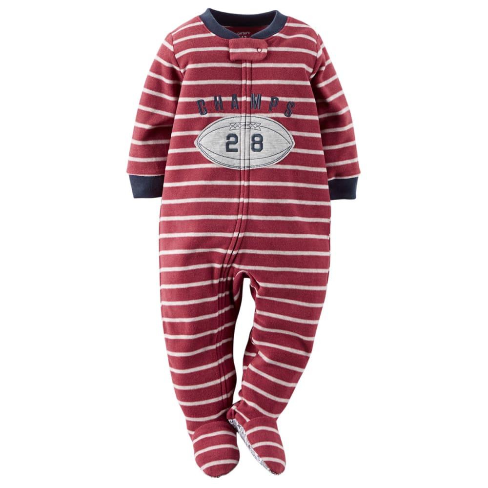 CARTER'S Baby Boys' 1-Piece Fleece PJs - MAROON