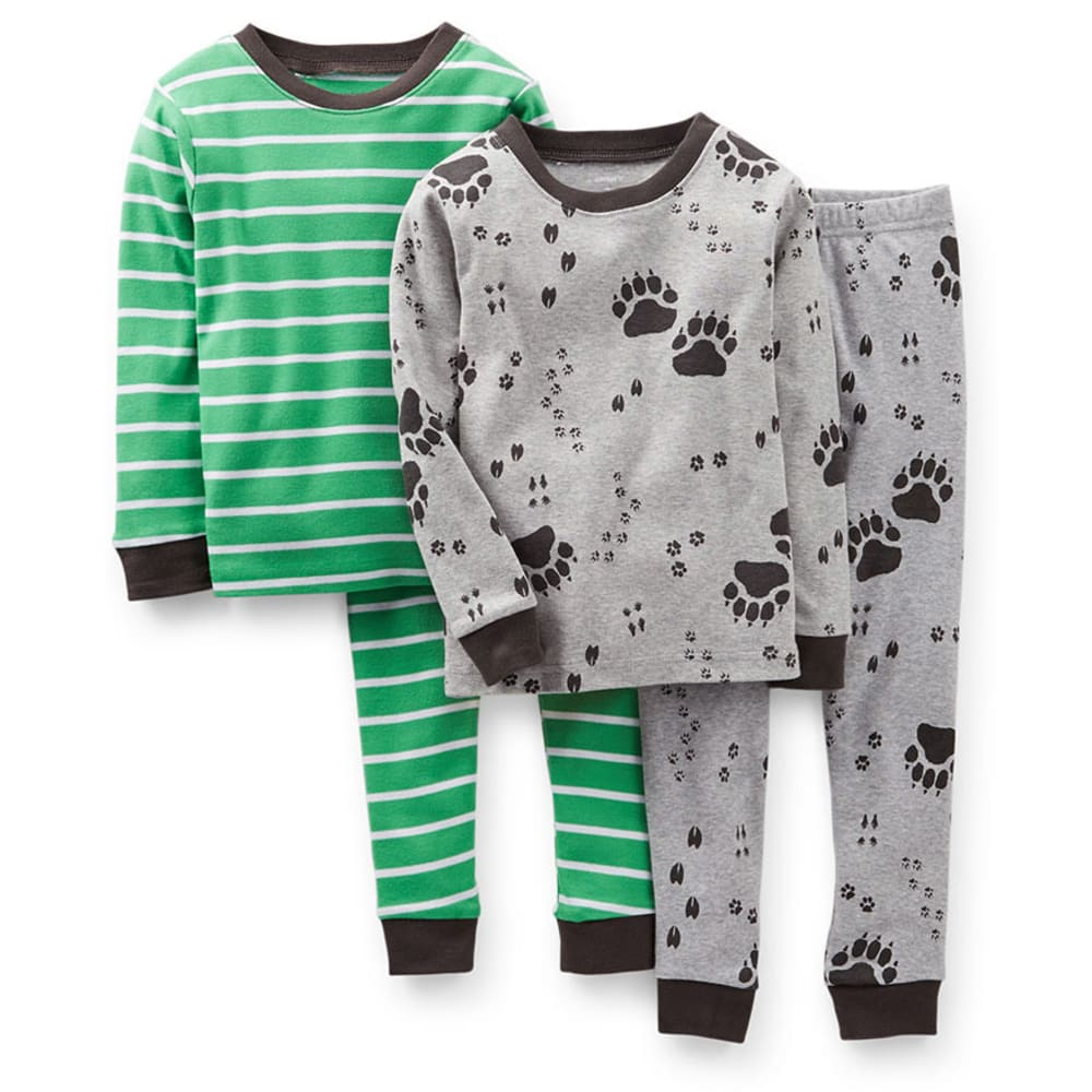 CARTER'S Infant Boys' 4-Piece Snug Fit Paw Print PJs - PRINT