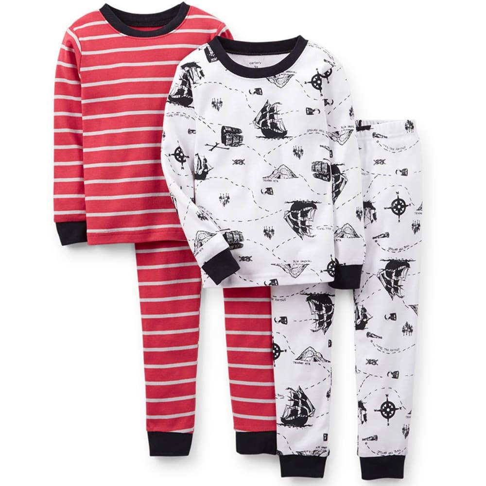 CARTER'S Toddler Boys' 4-Piece Snug Fit Cotton PJs, Pirate Print - PRINT