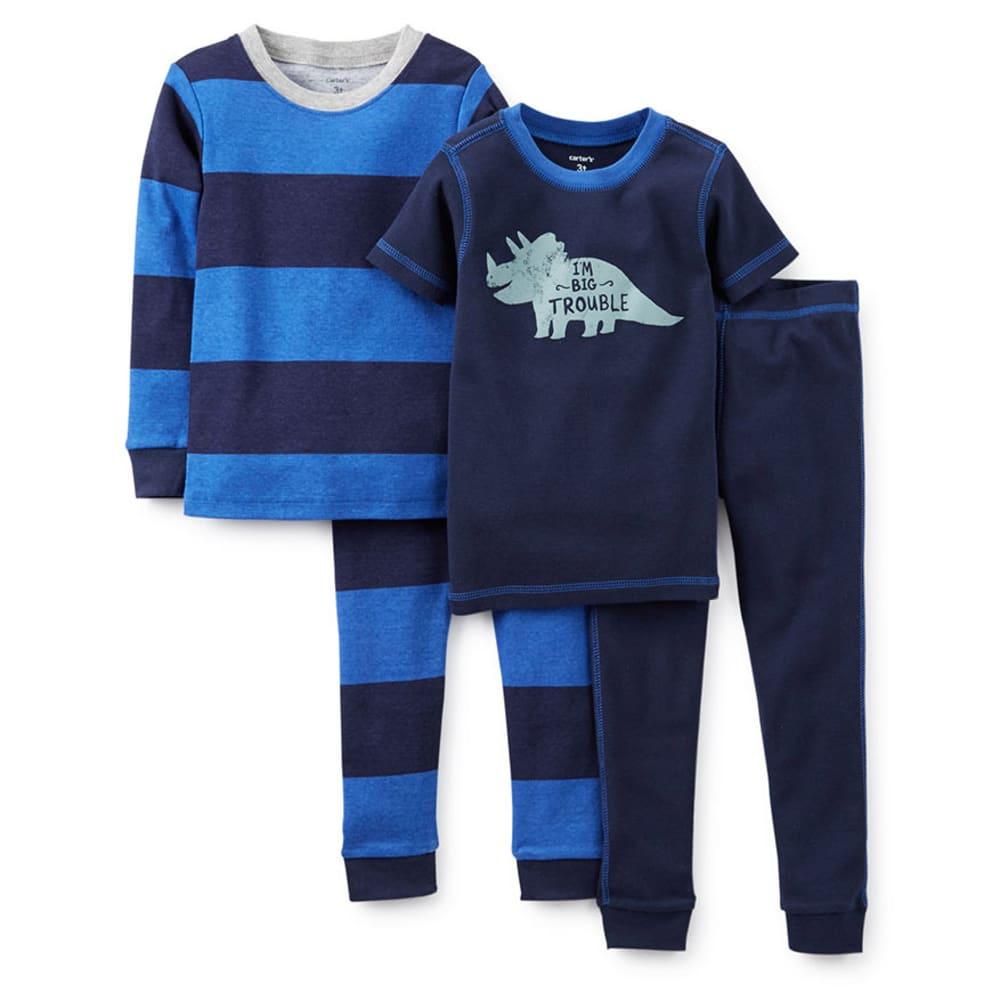 CARTER'S Infant Boys' 4-Piece I'm Big Trouble Sleepwear, Navy - VALUE DEAL - PRINT