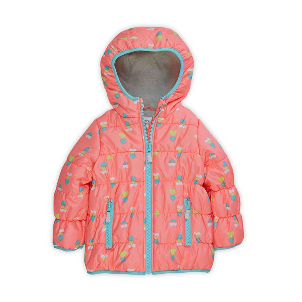 CARTER'S Toddler Girls' Heavyweight  Bubble Jacket - PRINT