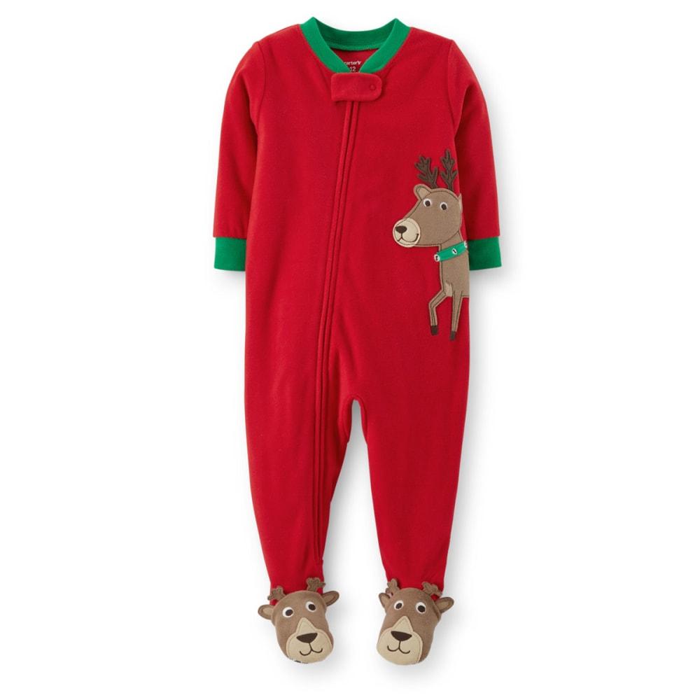 CARTER'S Infant Boys' Christmas 1-Piece Microfleece PJs - STRIPES
