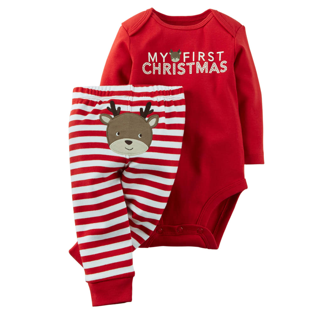 CARTERS Infant Boys' My First Christmas 2-Piece Set NB