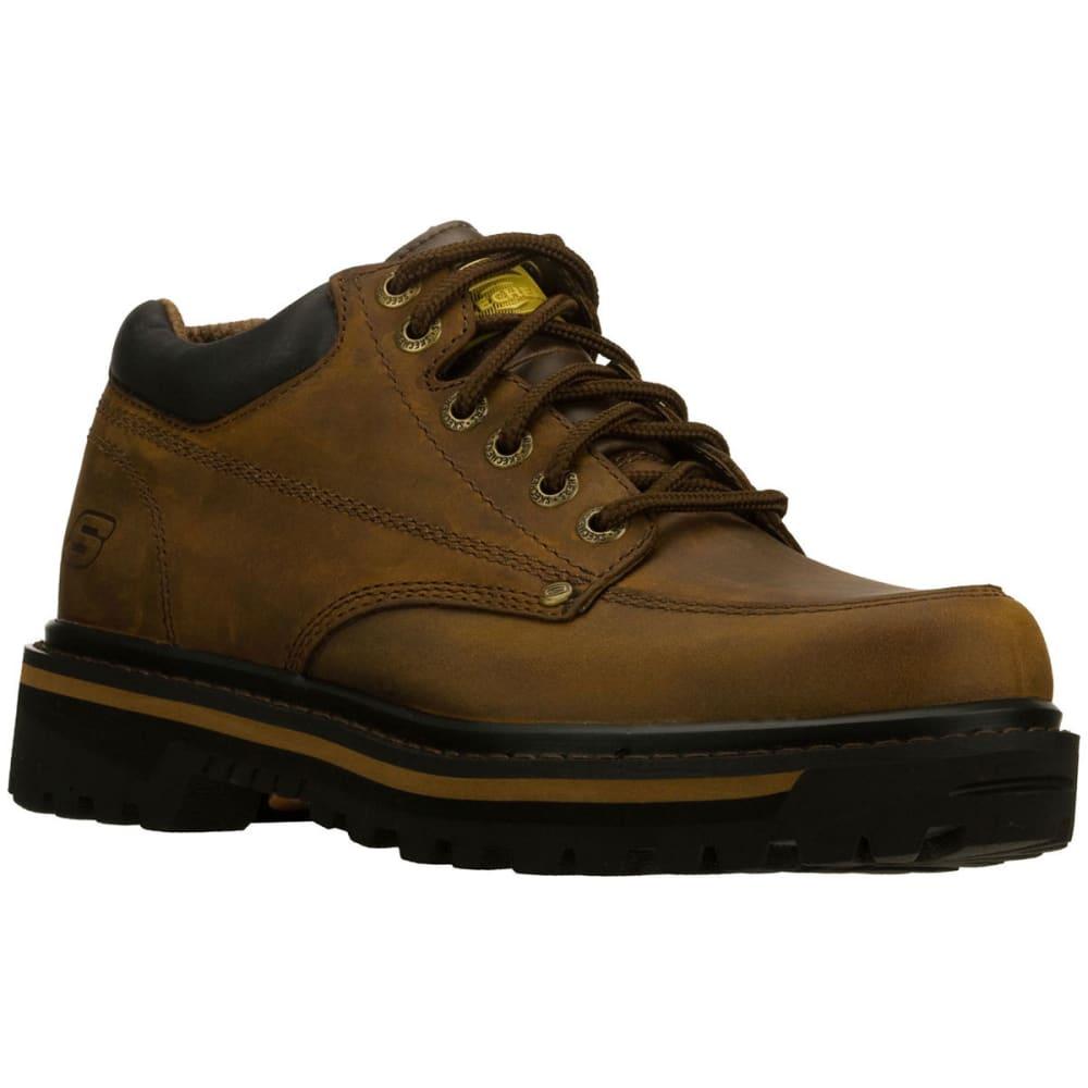 SKECHERS Men's Mariners Shoes, Dark Brown 10