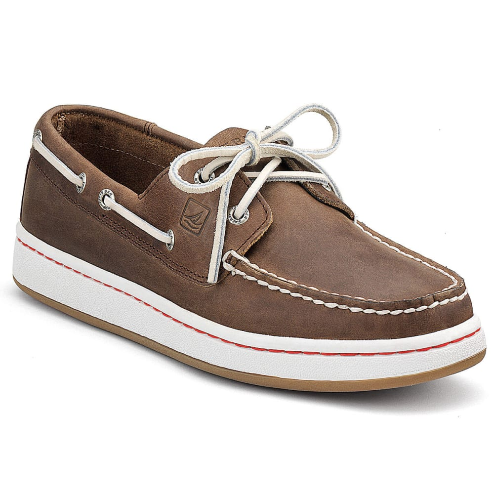 SPERRY Men's Top-Sider Cup Boat Shoes - DARK BROWN
