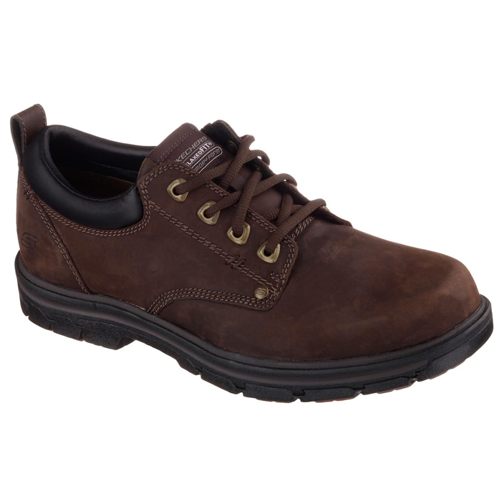 "Skechers Men's Relaxed Fit: Segment ""Rilar Shoes - Brown, 8"