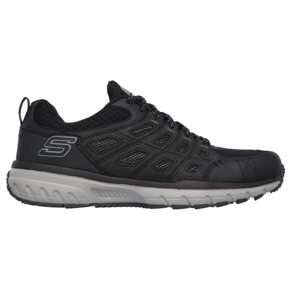 SKECHERS Men's Geo Trek Hiking Shoes - BLACK/GREY