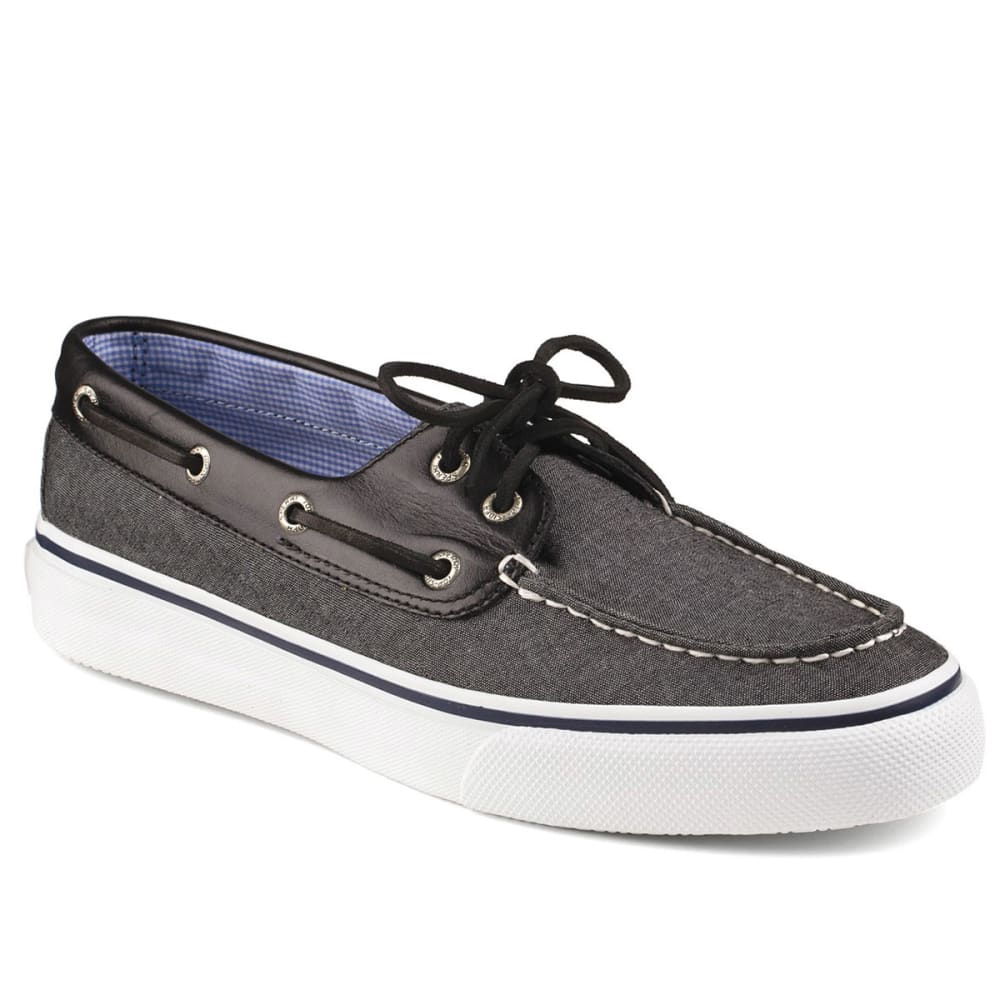 SPERRY Guys' Bahama 2-Eye Boat Shoes - BLACK CHAMBRAY