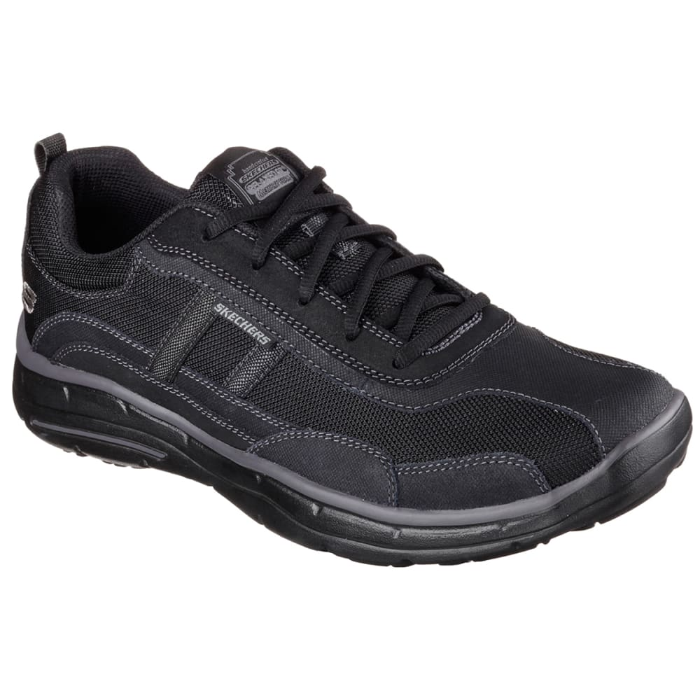 SKECHERS Men's Relaxed Fit: Glides - Ellison Shoes - BLACK