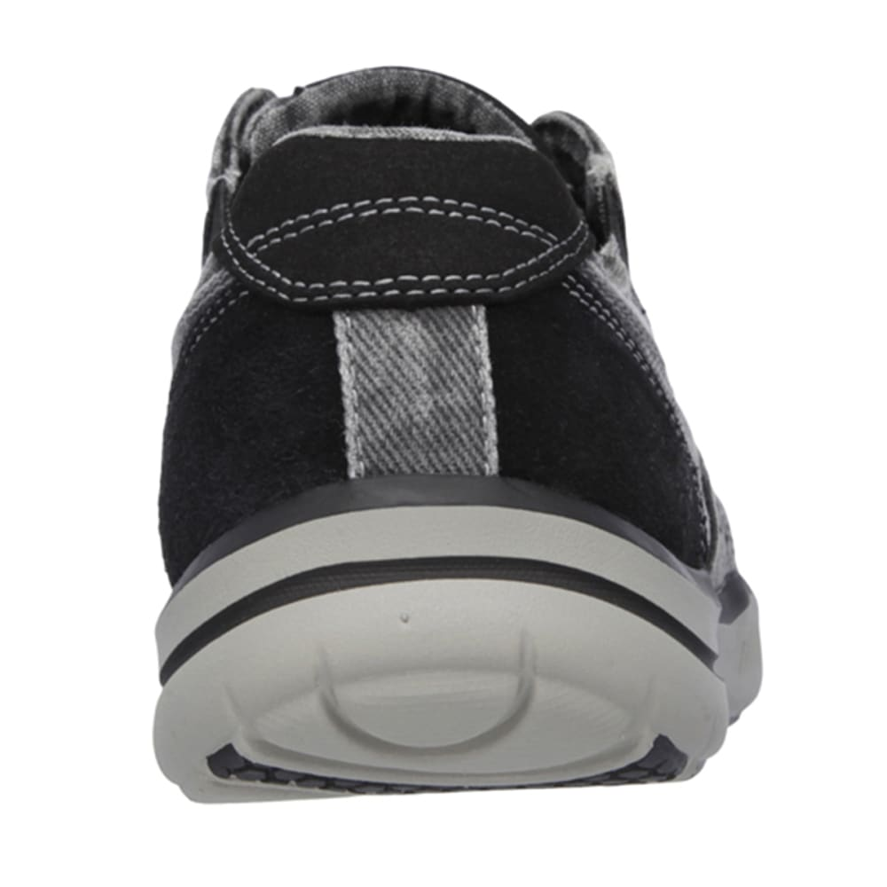 SKECHERS Men's Relaxed Fit: Elected - Fultone Shoes - DARK GREY