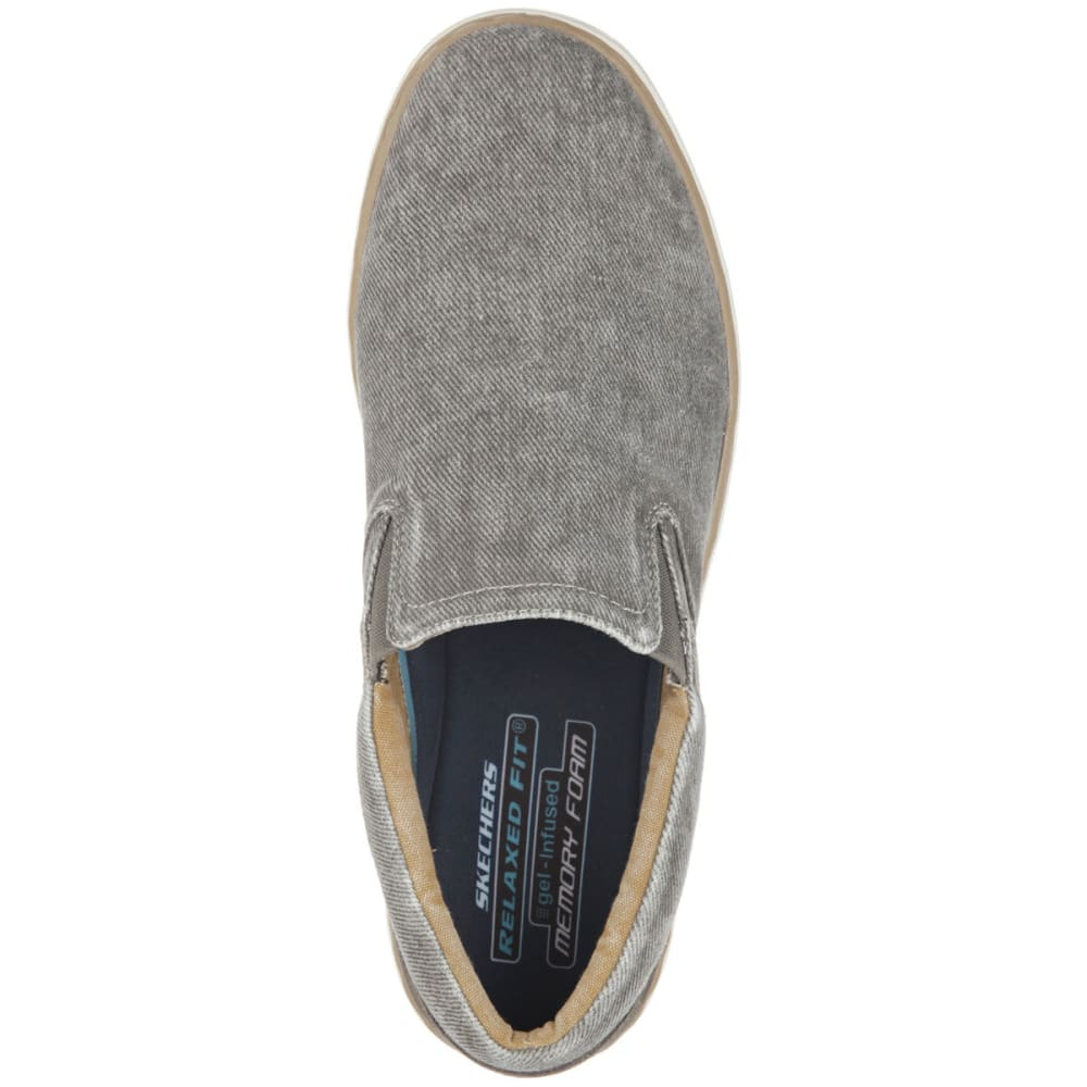 SKECHERS Relaxed Fit: Palen – Tiago Shoes - TRUE GREY HEATHER/BL