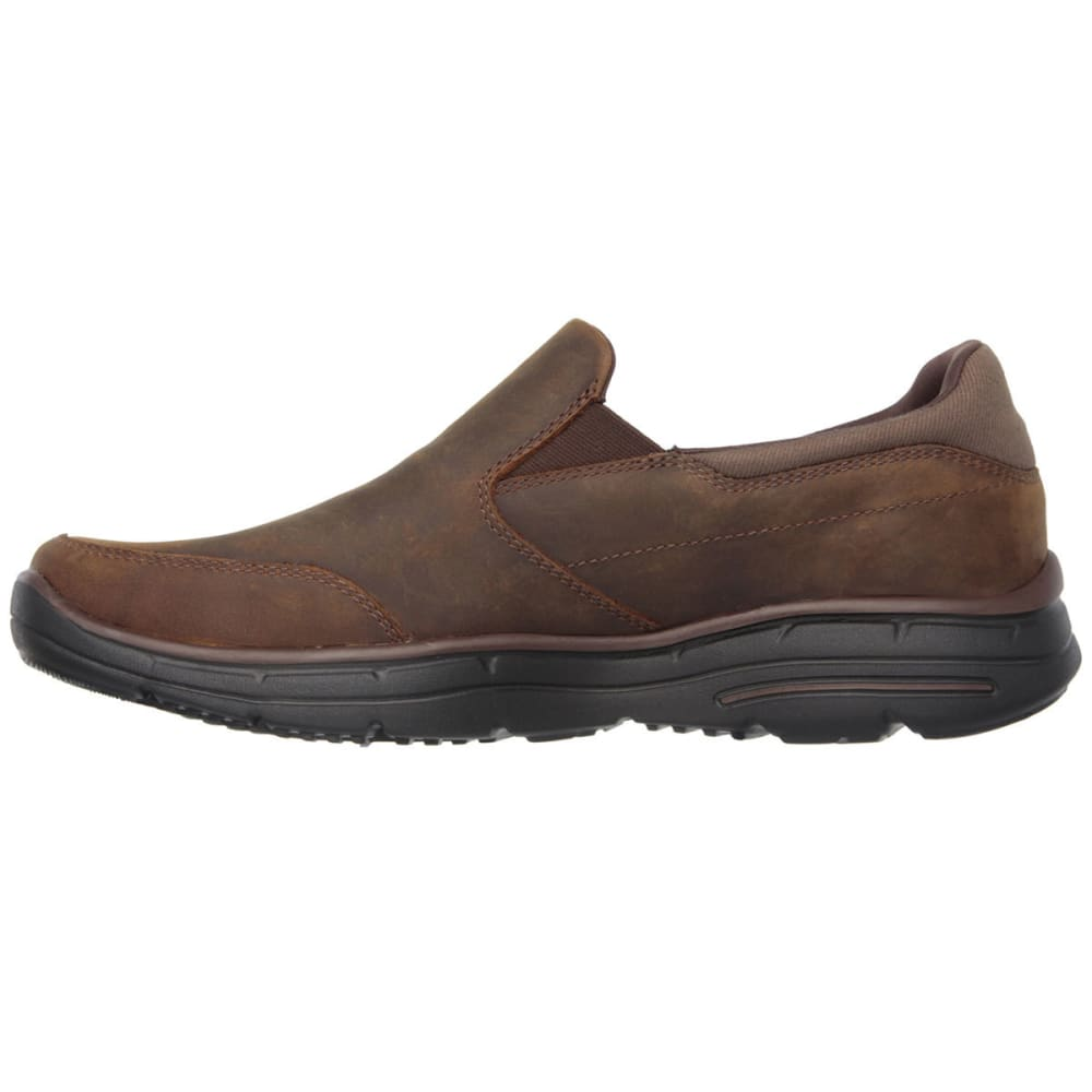 SKECHERS Men's Relaxed Fit: Glides – Calculous Shoes - BROWN