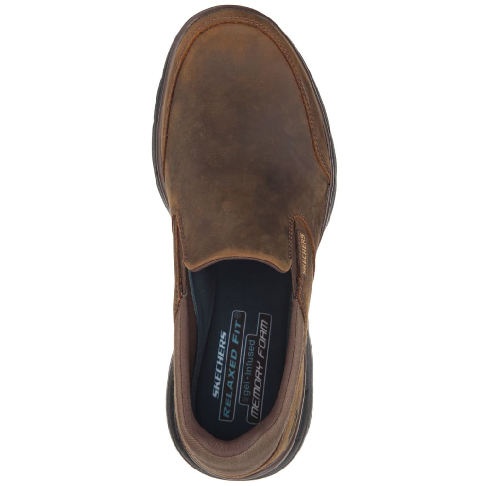 SKECHERS Men's Relaxed Fit: Glides -  Calculous Shoes - BROWN