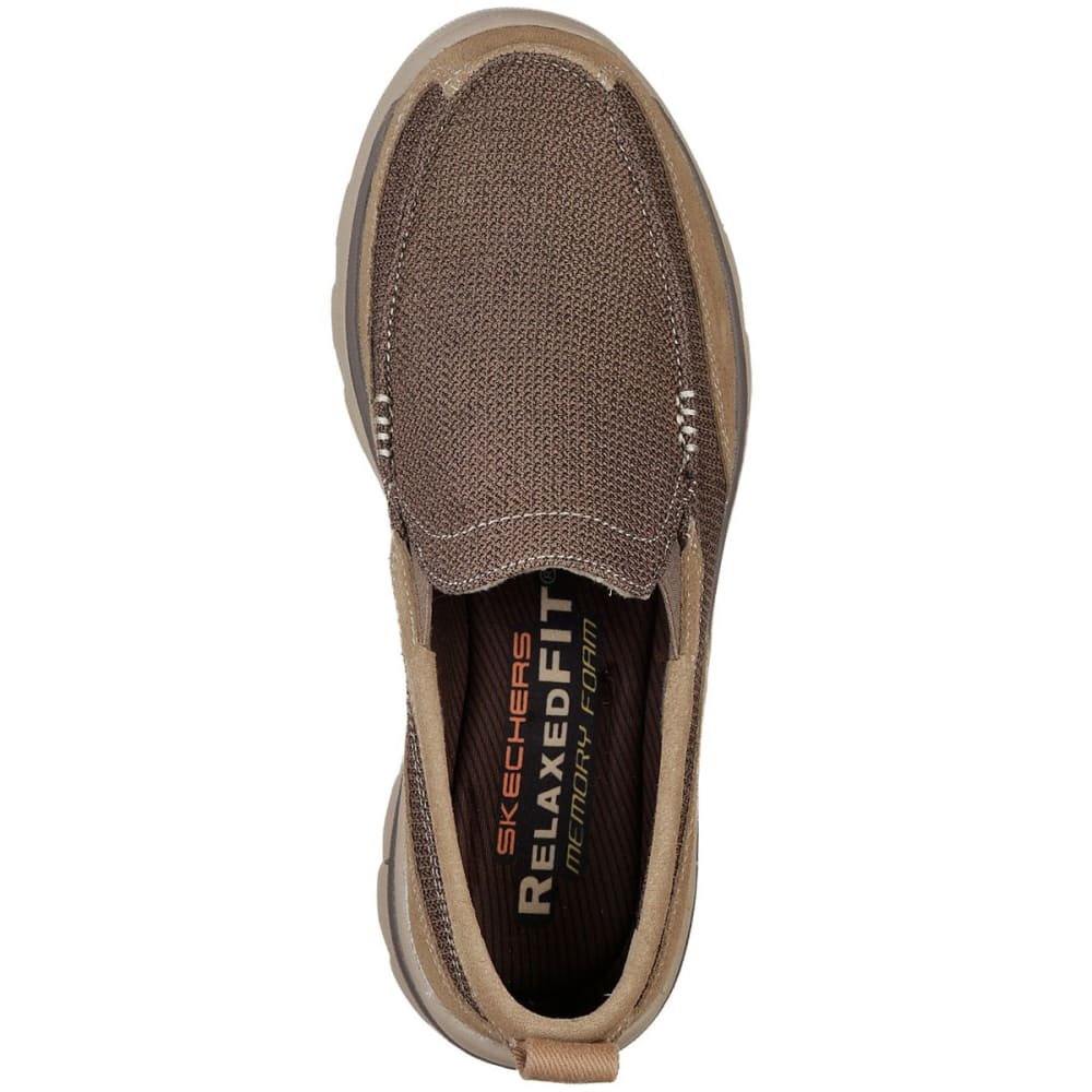 SKECHERS Men's Relaxed Fit: Superior- Milford Slip-On Shoes - LIGHT BROWN