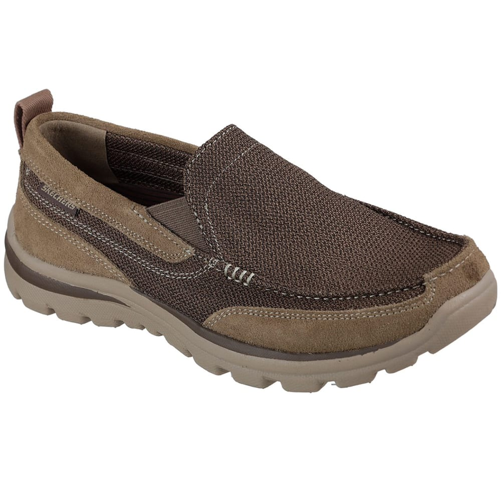 Skechers Men's Relaxed Fit: Superior- Milford Slip-On Shoes - Brown, 8