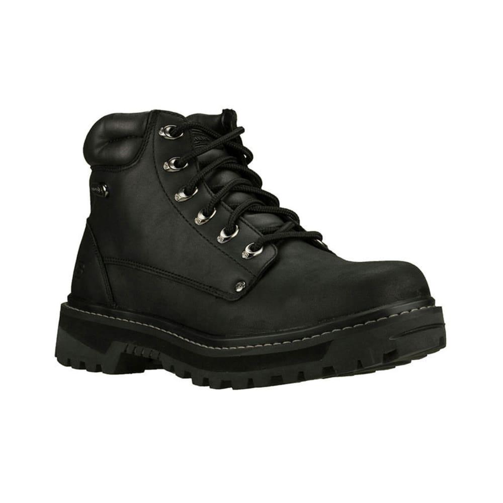 SKECHERS Men's Pilot Boots, Wide Width - BLACK