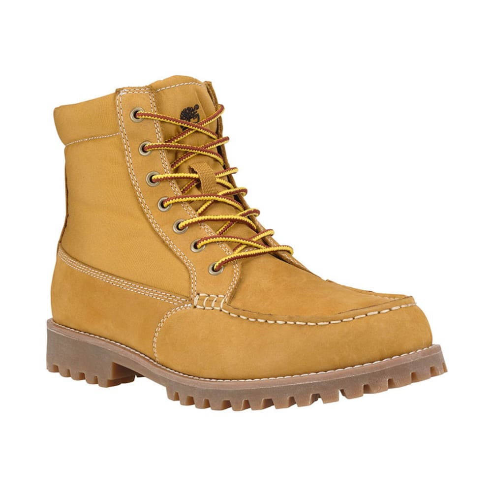 TIMBERLAND Men's Oakwell 8-Eye Moc Toe Leather and Fabric Boots - WHEAT