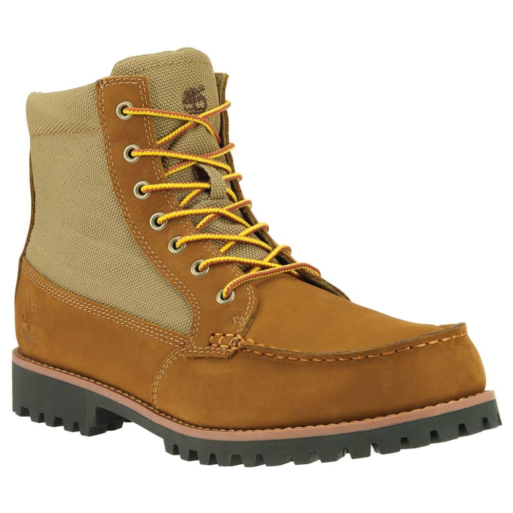 TIMBERLAND Guys' 7 Eye Moc Toe Boots - SMOKEY BROWN/OLIVE