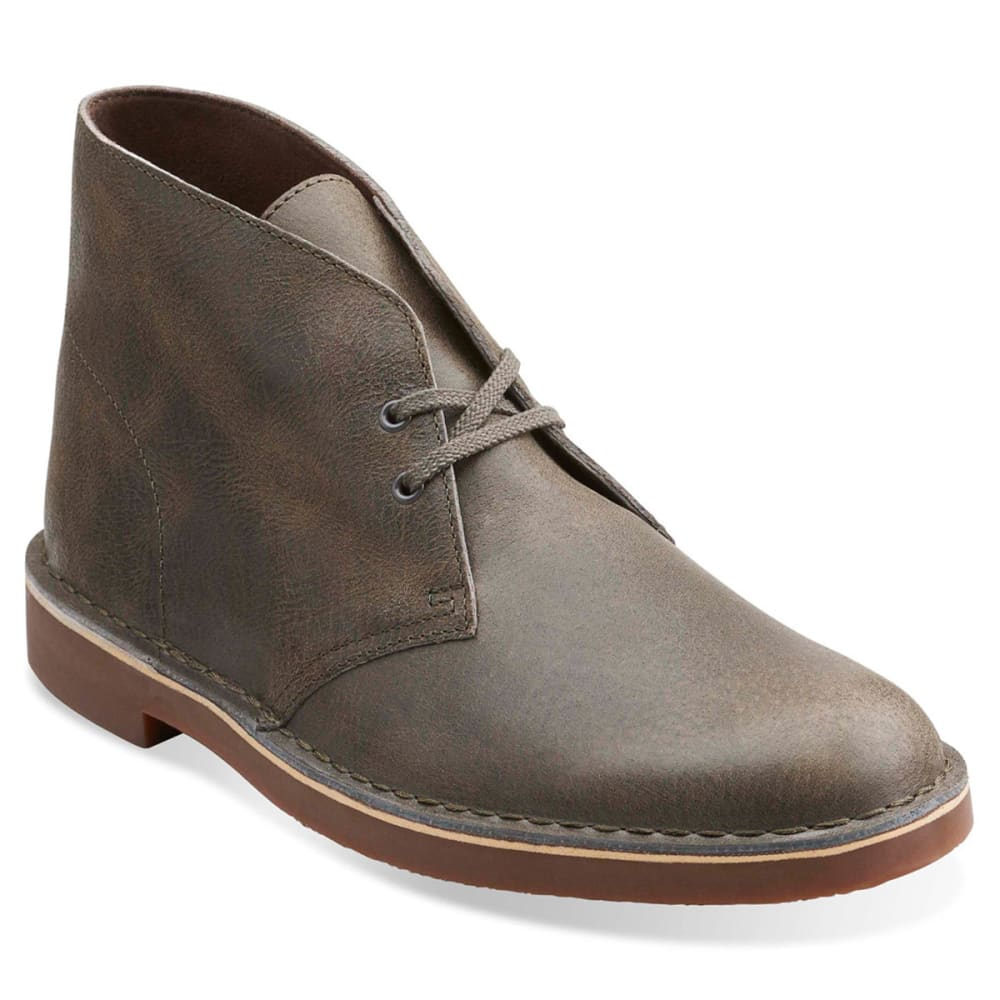 CLARKS Men's Bushacre Leather Chukka Boots - GREY