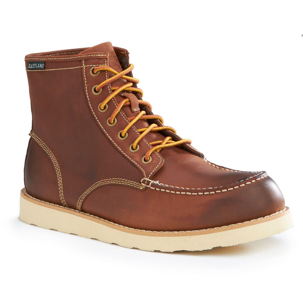 EASTLAND Men's Lumber Up Moc Toe Boots - CHESTNUT DISTRESSED