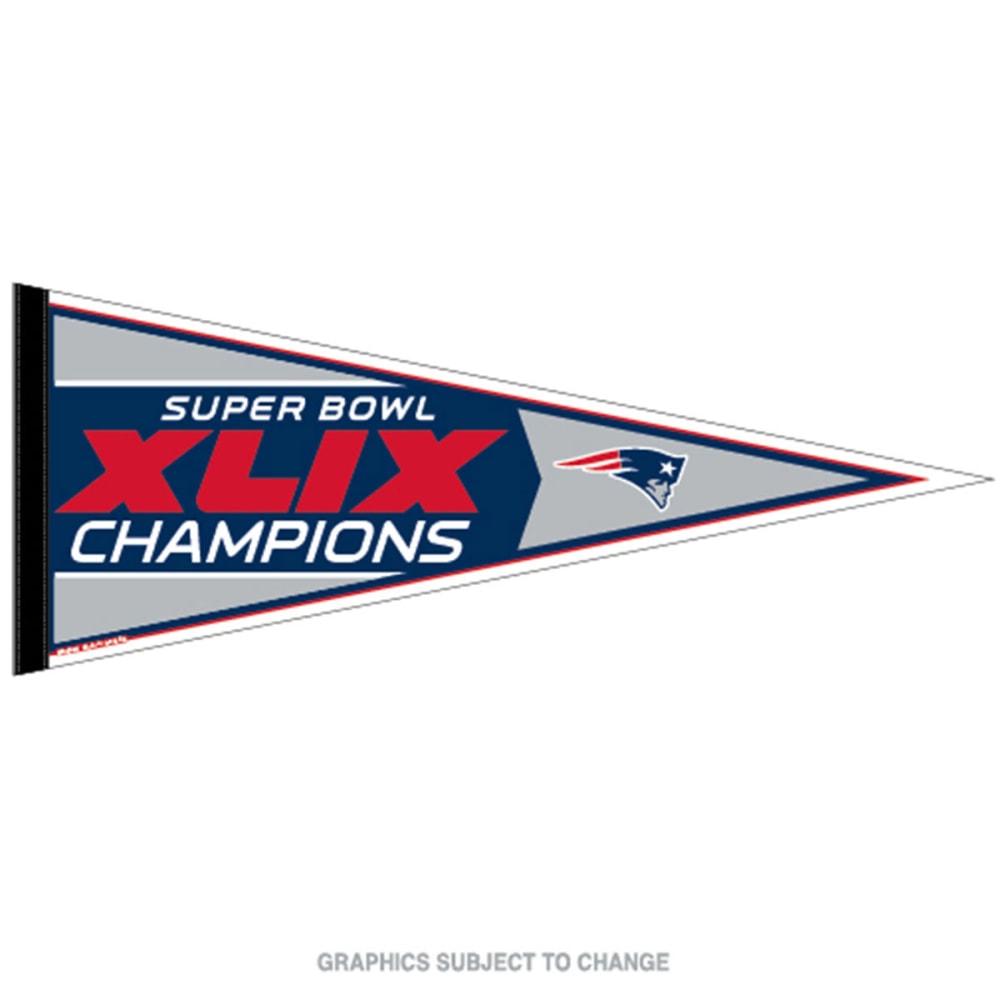 NEW ENGLAND PATRIOTS Super Bowl XLIX Champs Pennant - MULTI