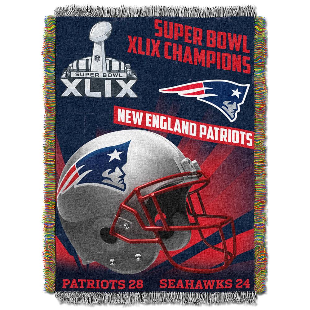 NEW ENGLAND PATRIOTS Super Bowl XLIX Champs Blanket - Premier - MULTI