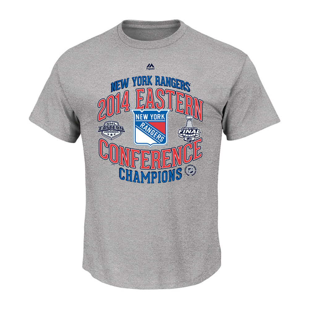 NEW YORK RANGERS Mens Eastern Conference Champs Locker Room Tee SS Premier Product - GREY
