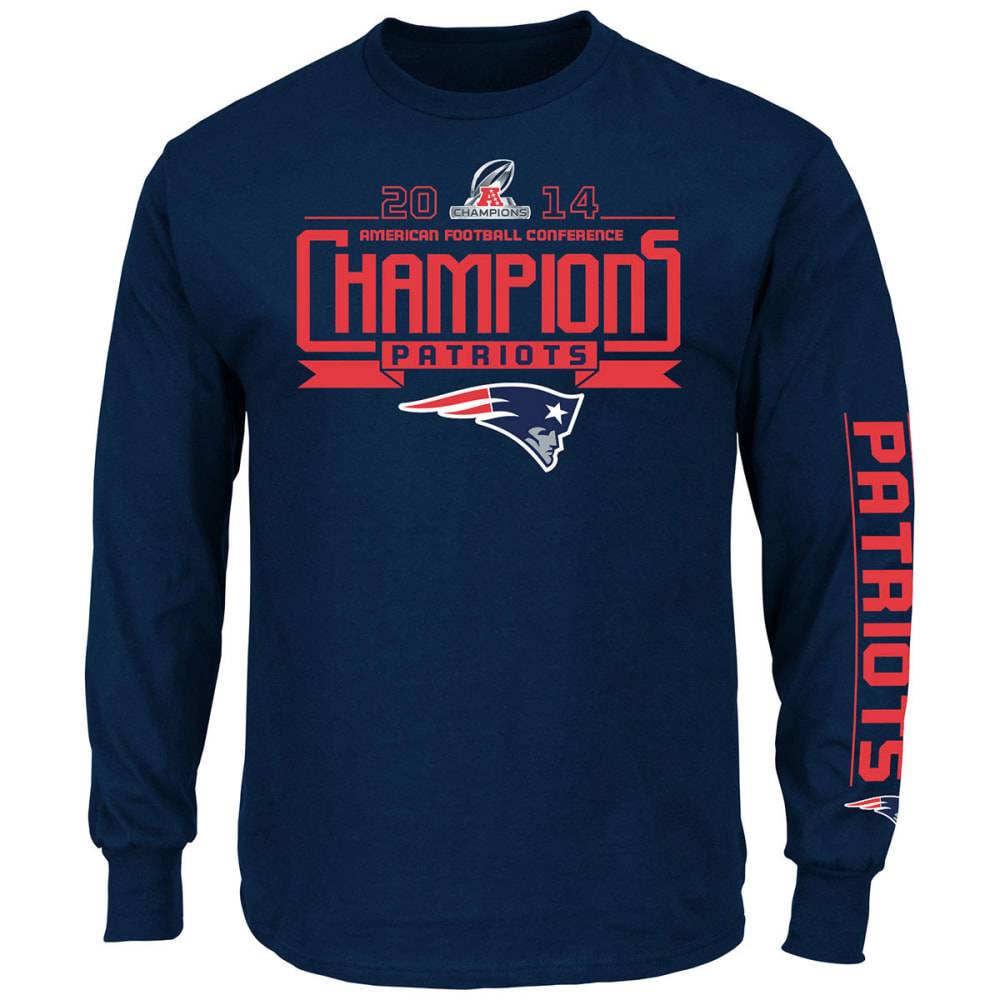 NEW ENGLAND PATRIOTS Men's Advancing Win VII Long-Sleeve Tee - PREMIER - NAVY